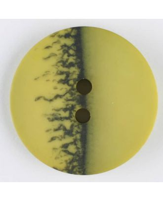 polyester button, round, 2 holes - Size: 23mm - Color: green - Art.-Nr.: 344705