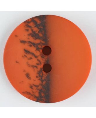 polyester button, round, 2 holes - Size: 23mm - Color: orange - Art.-Nr.: 344711