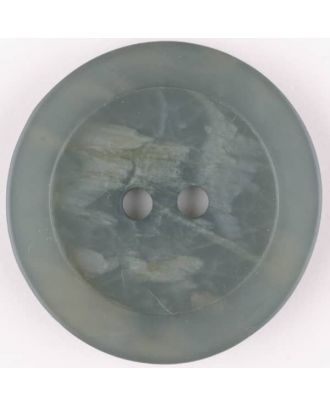 polyester button, round, 2 holes - Size: 20mm - Color: grey - Art.No. 335700