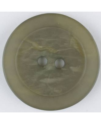 polyester button, round, 2 holes - Size: 20mm - Color: brown - Art.No. 335703