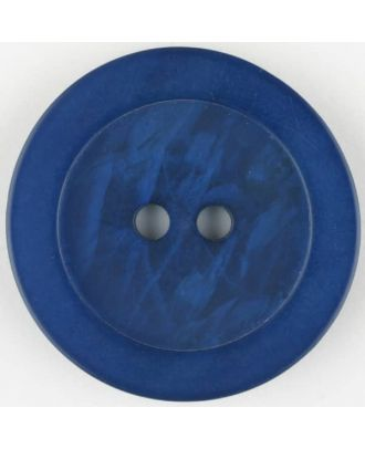 polyester button, round, 2 holes - Size: 23mm - Color: blue - Art.No. 345706
