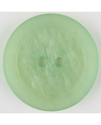 polyester button, round, 2 holes - Size: 30mm - Color: green - Art.No. 385707
