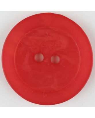 polyester button, round, 2 holes - Size: 30mm - Color: red - Art.No. 385710
