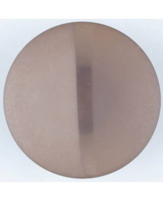 polyester button, round, with shank - Size: 28mm - Color: brown - Art.No. 385716