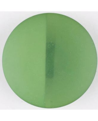 polyester button, round, with shank - Size: 28mm - Color: green - Art.No. 385720