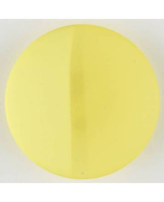polyester button, round, with shank - Size: 28mm - Color: yellow - Art.No. 385724