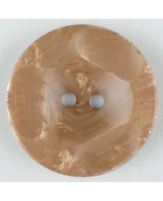 Polyester button, round, 2 holes - Size: 30mm - Color: beige - Art.No. 386700