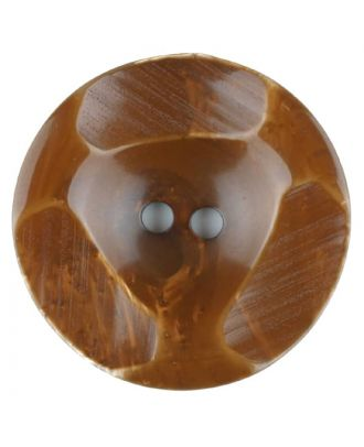 Polyester button, round, 2 holes - Size: 20mm - Color: brown - Art.No. 336701