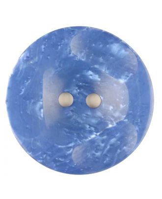 Polyester button, round, 2 holes - Size: 20mm - Color: blue - Art.No. 336703