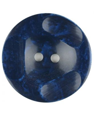 Polyester button, round, 2 holes - Size: 30mm - Color: blue - Art.No. 386704