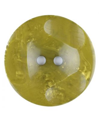 Polyester button, round, 2 holes - Size: 30mm - Color: green - Art.No. 386706