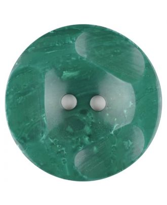 Polyester button, round, 2 holes - Size: 30mm - Color: green - Art.No. 386707