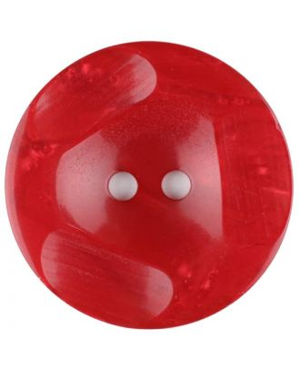 Polyester button, round, 2 holes - Size: 30mm - Color: red - Art.No. 386708