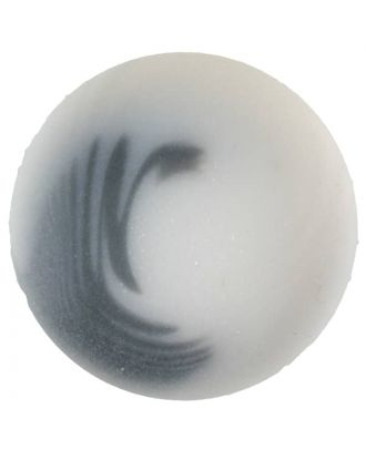 polyester button with shank - Size: 20mm - Color: white - Art.No. 331088