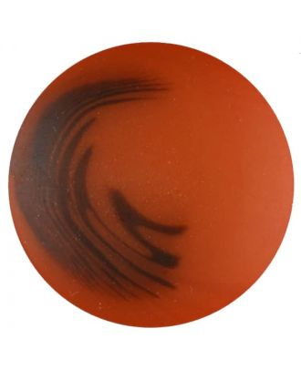 polyester button with shank - Size: 25mm - Color: orange - Art.No. 377712