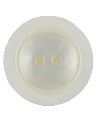 polyester button with 2 holes - Size: 23mm - Color: white - Art.No. 341230