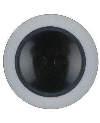 polyester button with 2 holes - Size: 23mm - Color: black - Art.No. 341231