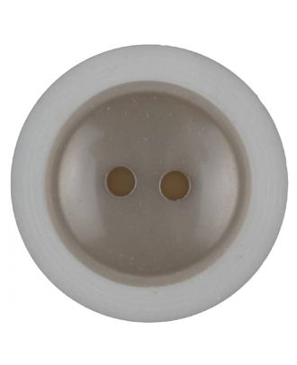 polyester button with 2 holes - Size: 28mm - Color: beige - Art.No. 387714