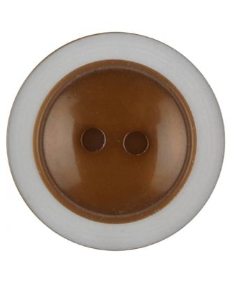 polyester button with 2 holes - Size: 28mm - Color: brown - Art.No. 387715