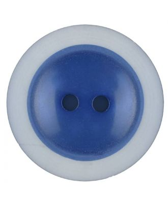 polyester button with 2 holes - Size: 28mm - Color: blue - Art.No. 387716
