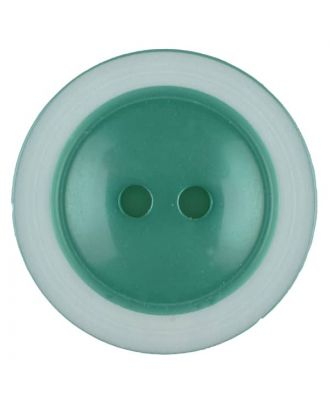 polyester button with 2 holes - Size: 28mm - Color: green - Art.No. 387719