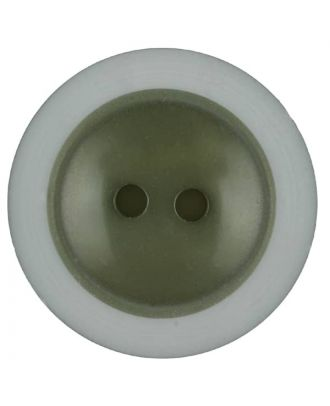 polyester button with 2 holes - Size: 18mm - Color: dark green - Art.No. 317707