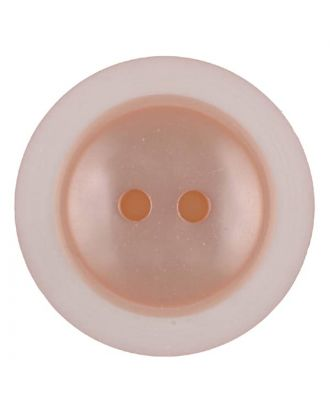 polyester button with 2 holes - Size: 18mm - Color: pink - Art.No. 317709
