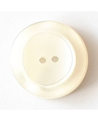 polyester button with 2 holes - Size: 28mm - Color: white - Art.No. 380361