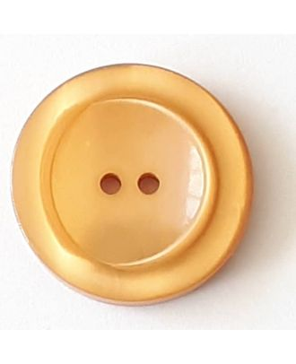 polyester button with 2 holes - Size: 28mm - Color: beige - Art.No. 388712