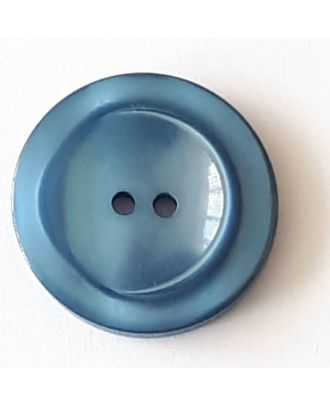 polyester button with 2 holes - Size: 28mm - Color: blue - Art.No. 388717