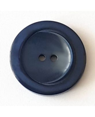 polyester button with 2 holes - Size: 28mm - Color: navy blue - Art.No. 388718