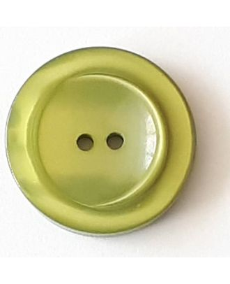 polyester button with 2 holes - Size: 28mm - Color: green - Art.No. 388720