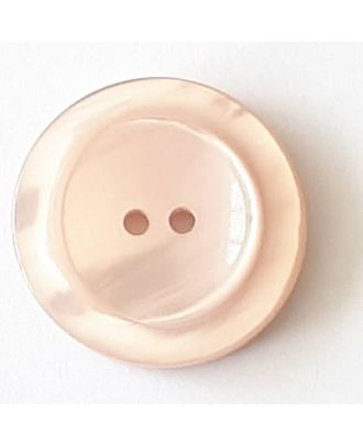 polyester button with 2 holes - Size: 23mm - Color: pink - Art.No. 348709