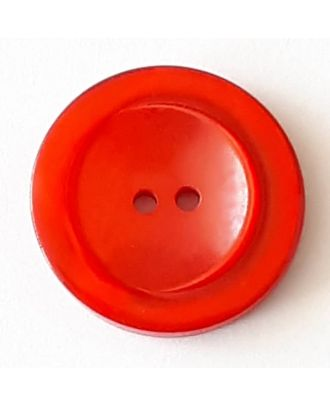 polyester button with 2 holes - Size: 28mm - Color: red - Art.No. 388722