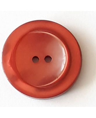 polyester button with 2 holes - Size: 28mm - Color: red  - Art.No. 388723