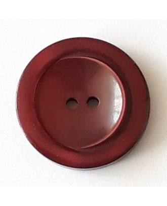 polyester button with 2 holes - Size: 28mm - Color: red  - Art.No. 388724