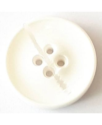 polyester button with 2 holes - Size: 30mm - Color: white - Art.No. 380359