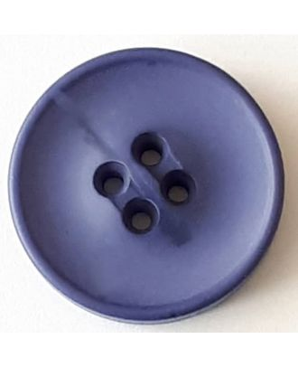 polyester button with 2 holes - Size: 30mm - Color: blue - Art.No. 388705