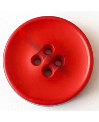polyester button with 2 holes - Size: 30mm - Color: red - Art.No. 388709
