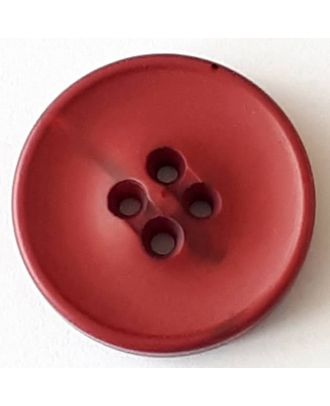 polyester button with 2 holes - Size: 30mm - Color: red  - Art.No. 388710