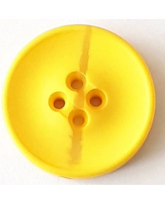 polyester button with 2 holes - Size: 30mm - Color: yellow - Art.No. 388711