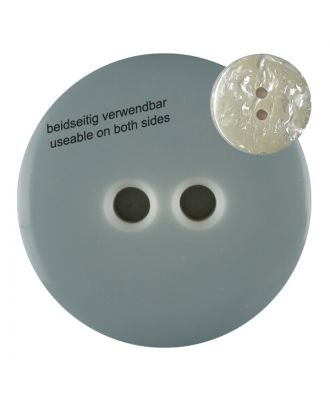 polyester  button with 2 holes - Size: 23mm - Color: grey - Art.No. 342800