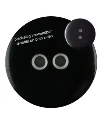polyester  button with 2 holes - Size: 18mm - Color: black - Art.No. 311020