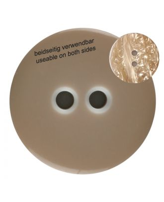 polyester  button with 2 holes - Size: 23mm - Color: brown - Art.No. 342803