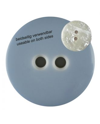 polyester  button with 2 holes - Size: 23mm - Color: blue/light blue - Art.No. 342804