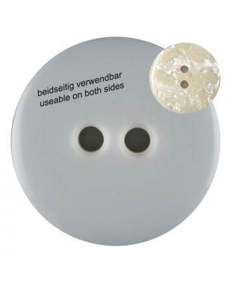 polyester  button with 2 holes - Size: 23mm - Color: blue/light blue - Art.No. 342805