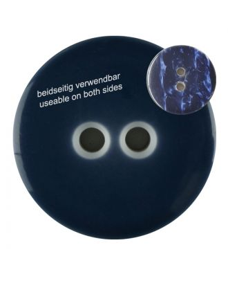 polyester  button with 2 holes - Size: 23mm - Color: navy - Art.No. 342806
