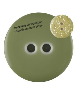 polyester  button with 2 holes - Size: 23mm - Color: gentle/light green - Art.No. 342809