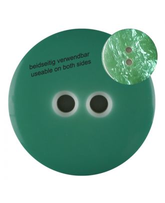 polyester  button with 2 holes - Size: 23mm - Color: gentle/light green - Art.No. 342810