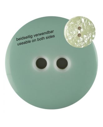 polyester  button with 2 holes - Size: 23mm - Color: gentle/light green - Art.No. 342811